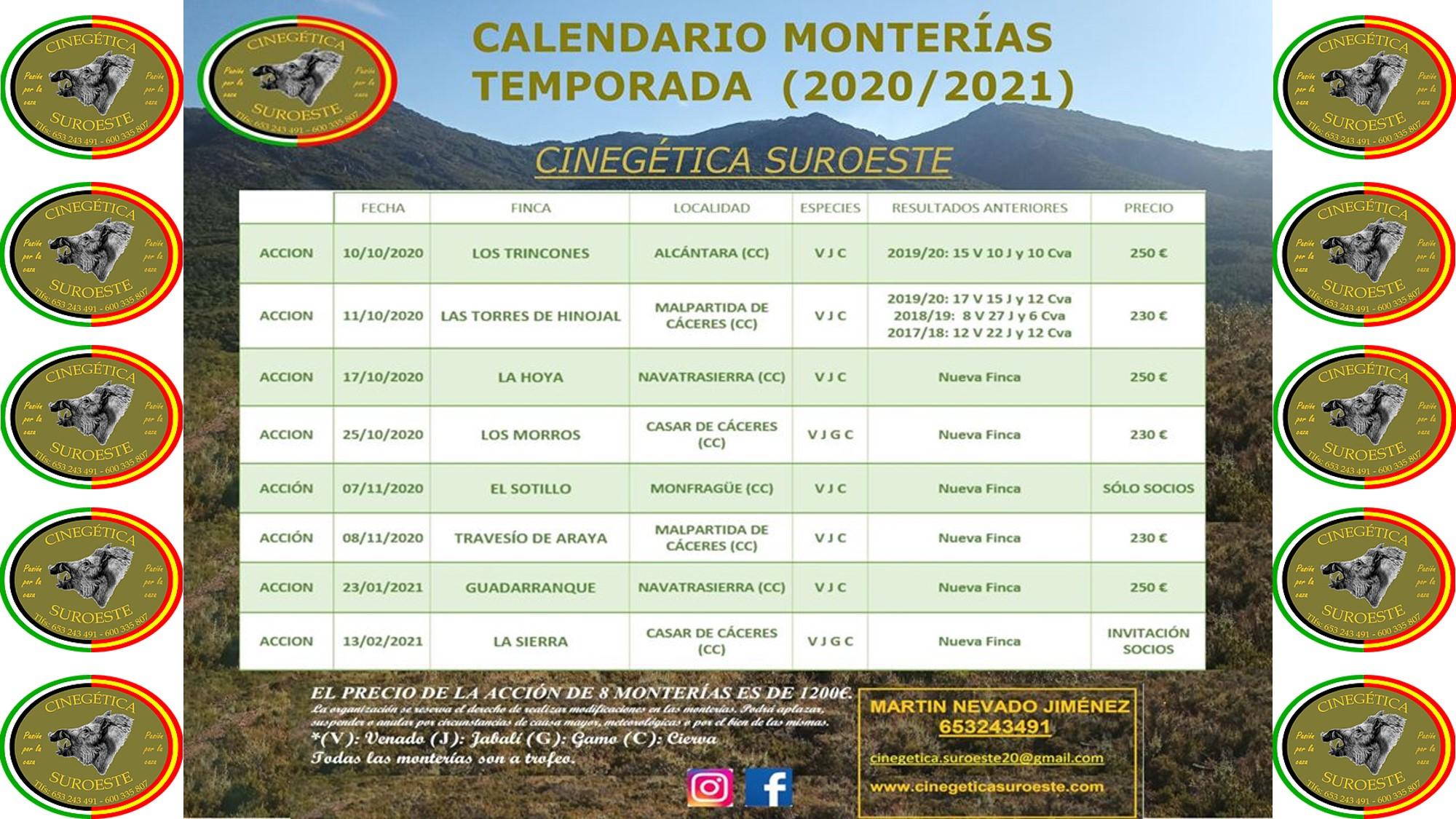 Cinegética Suroeste Calendario Audiovisual 2020/21
